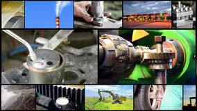 Parete industriale del video del montaggio stock footage