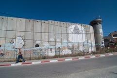 Parete israeliana di separazione Fotografie Stock Libere da Diritti