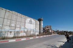 Parete israeliana di separazione Fotografia Stock
