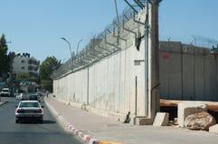 Parete israeliana di separazione Fotografie Stock