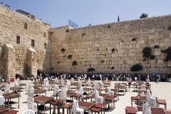 Parete lamentantesi, Gerusalemme Immagine Stock Libera da Diritti