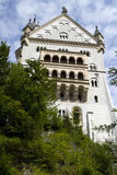 Parete laterale del castello di Neuschwanstein Immagine Stock Libera da Diritti