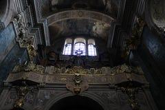 Parete magnifica in una della chiesa di L'vov Fotografia Stock Libera da Diritti