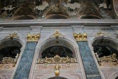 Parete magnifica in una della chiesa di L'vov Fotografie Stock