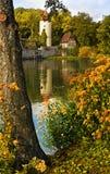 Parete medioevale della città con la torretta Fotografie Stock Libere da Diritti