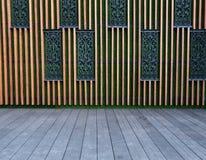 Parete moderna decorata Fotografia Stock Libera da Diritti