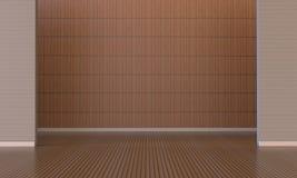Parete moderna di legno e del sottotetto Fotografia Stock