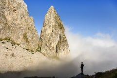 Parete in montagne di Prokletije, Montenegro della scogliera Immagini Stock