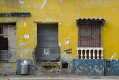 Parete nella via di Cartagine Fotografie Stock Libere da Diritti