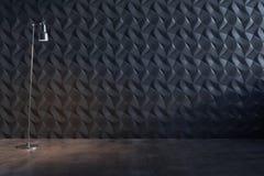 Parete nera decorativa astratta Fotografie Stock