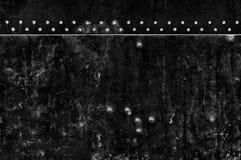 Parete nera di Grunge Fotografia Stock Libera da Diritti
