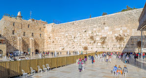 Parete occidentale a Gerusalemme Fotografia Stock Libera da Diritti