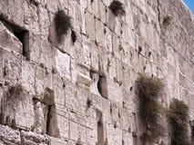 Parete occidentale nel capitale ebreo di Gerusalemme Fotografia Stock Libera da Diritti