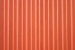 Parete ondulata del metallo arancione Fotografia Stock Libera da Diritti