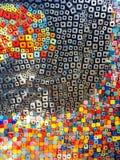 parete quadrata variopinta mista del modello fotografia stock libera da diritti