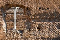 Parete romana antica alla villa Adriana Immagini Stock Libere da Diritti