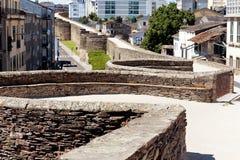 Parete romana di Lugo spain Fotografia Stock