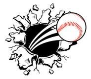 Parete rompentesi di baseball Fotografia Stock