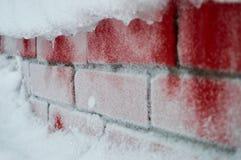 Parete rossa congelata Fotografie Stock Libere da Diritti