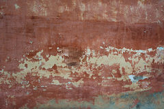 Parete rossa del cemento del fondo strutturato approssimativo vecchia con Immagini Stock
