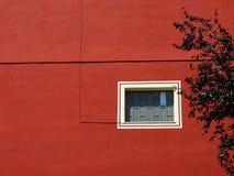 Parete rossa della costruzione Fotografia Stock Libera da Diritti