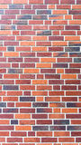 Parete rossa di brickstone - orientamento ritratto Immagini Stock Libere da Diritti