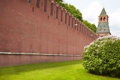 Parete rossa Kremlin Fotografia Stock