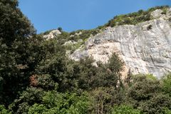 Parete san paolo in arco rock climbing area Royalty Free Stock Photos
