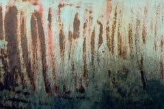 Parete sporca del metallo arrugginito Fotografia Stock Libera da Diritti