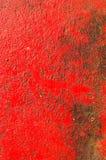 Parete sporca della pittura di colore rosso Fotografia Stock