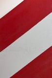 Parete a strisce bianca rossa Immagini Stock Libere da Diritti