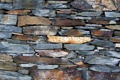 Parete strutturata del pannello della roccia della via Fotografie Stock