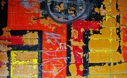 Parete urbana dei graffiti fotografia stock