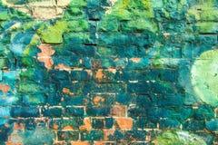 Parete variopinta dei graffiti fotografia stock libera da diritti
