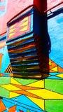 Parete variopinta del modello in Burano immagini stock libere da diritti
