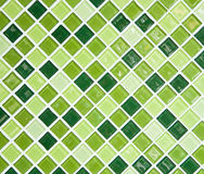 Parete verde delle mattonelle Immagine Stock