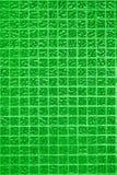 Parete verde delle mattonelle della foto o del mattone reale di alta risoluzione senza cuciture e struttura di fondo interno Fotografia Stock