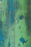 Parete verde strutturata con effetto della patina fotografia stock libera da diritti