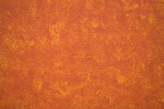 Parete vibrante luminosa Messico del Adobe di colore giallo arancione Fotografia Stock