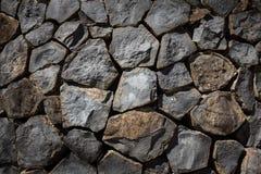 Pareti accatastate su dalle rocce Fotografia Stock