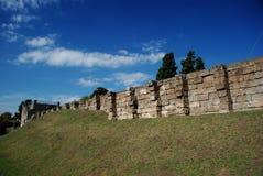 Pareti antiche di Pompeii Fotografie Stock Libere da Diritti