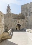 Pareti antiche di Ragusa, Croazia Immagine Stock