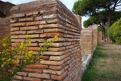 Pareti antiche, Ostia Antica, Italia fotografie stock
