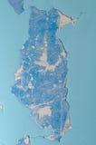 Pareti con vecchia pittura blu Fotografia Stock Libera da Diritti