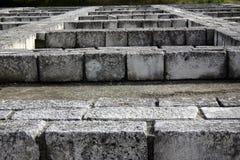 Pareti dei blocchi di pietra Immagine Stock Libera da Diritti