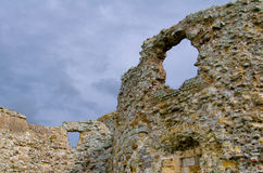 Pareti del castello Immagine Stock