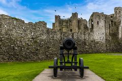 Pareti del castello della disposizione, Irlanda fotografie stock libere da diritti