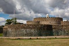 Pareti del castello di affare Fotografie Stock