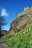 Pareti del castello di Edimburgo fotografie stock libere da diritti
