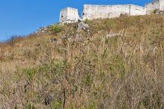 Pareti del castello di Spis in Slovacchia Fotografia Stock Libera da Diritti